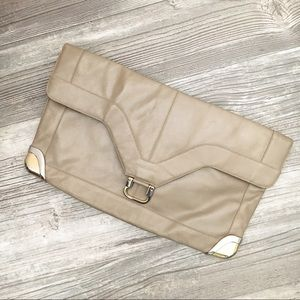 Vintage Lou Taylor Taupe Clutch